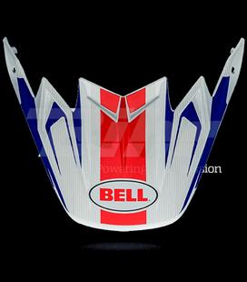 VISERA BELL MOTO-9 CARBON FLEX VICE AZUL / ROJO