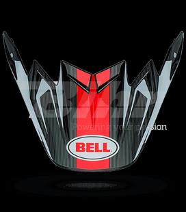 VISERA BELL MOTO-9 CARBON FLEX VICE BLANCO / NEGRO