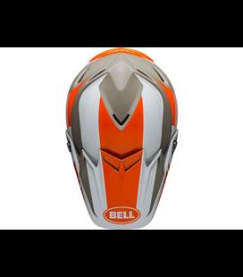 VISERA BELL MOTO-9 FLEX DIVISION BLANCO/NARANJA/ARENA
