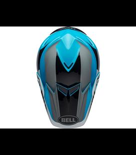 VISERA BELL MOTO-9 FLEX DIVISION BLANCO/NEGRO/AZUL