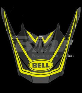 VISERA BELL SX-1 WHIP NEGRO MATE / AMARILLO HI-VIZ
