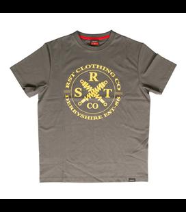CAMISETA (HOMBRE) RST CLOTHING CO GRIS/MOSTAZA