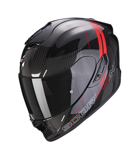 SCORPION EXO 1400 AIR CARBON DRIK NEGRO Y ROJO
