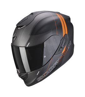 SCORPION EXO 1400 AIR CARBON DRIK NEGRO MATE Y NARANJA