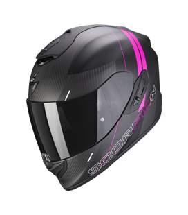 SCORPION EXO 1400 AIR CARBON DRIK NEGRO Y ROSA