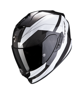 SCORPION EXO 1400 AIR CARBON LEGIONE BLANCO Y NEGRO