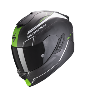 SCORPION EXO 1400 AIR CARBON BEAUX NEGRO CON VERDE