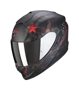 SCORPION EXO 1400 AIR ASIO NEGRO MATE Y ROJO
