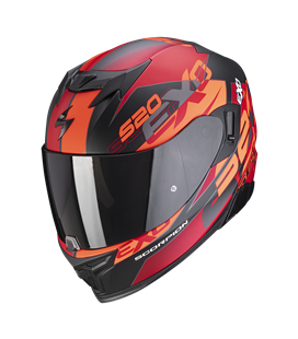 SCORPION EXO 520 AIR COVER ROJO NARANJA Y NEGRO