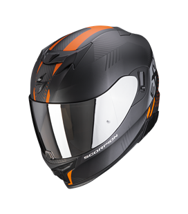 SCORPION EXO 520 AIR LATEN NEGRO Y NARANJA