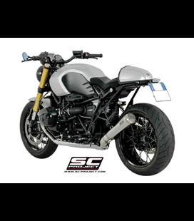 BMWR NINE T (2014 - 2016) SILENCIADOR CONICO 70'S ACERO CEPILLADO NEGRO SC PROJECT