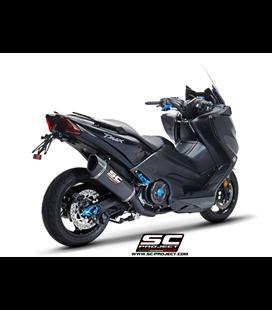 YAMAHATMAX 530 (2017 - 2019) - SX - DX - SX Sport Edition SISTEMA DE ESCAPE COMPLETO 2-1 SILENCIADOR SC1-R NEGRO SC PROJECT