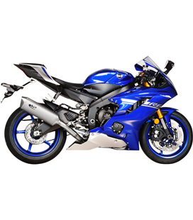 YAMAHA YZF-R6 600 2017 - 2020 EXHAUST FULL STAINLESS STEEL FORCE SILENCER TITANIUM