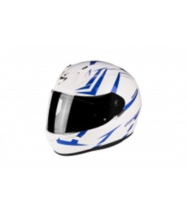 SCORPION EXO 390 HAWK BLANCO PERLA AZUL