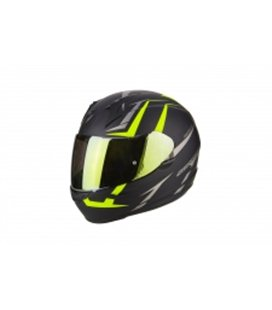 SCORPION EXO 390 HAWK NEGRO MATE AMARILLO FLUO