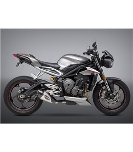 TRIUMPH STREET TRIPLE 765 2017 - 2018 SILENCIOSO STREET SERIES ALPHA T WORKS FINISH