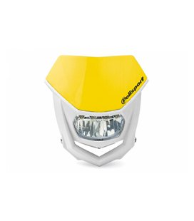 CARETA HALO LED HOMOLOGADA POLISPORT BLANCO/AMARILLO 8667100003