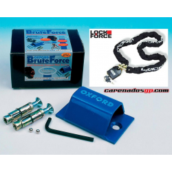 KIT ANCLAJE BRUTE FORCE + CADENA 1,2m
