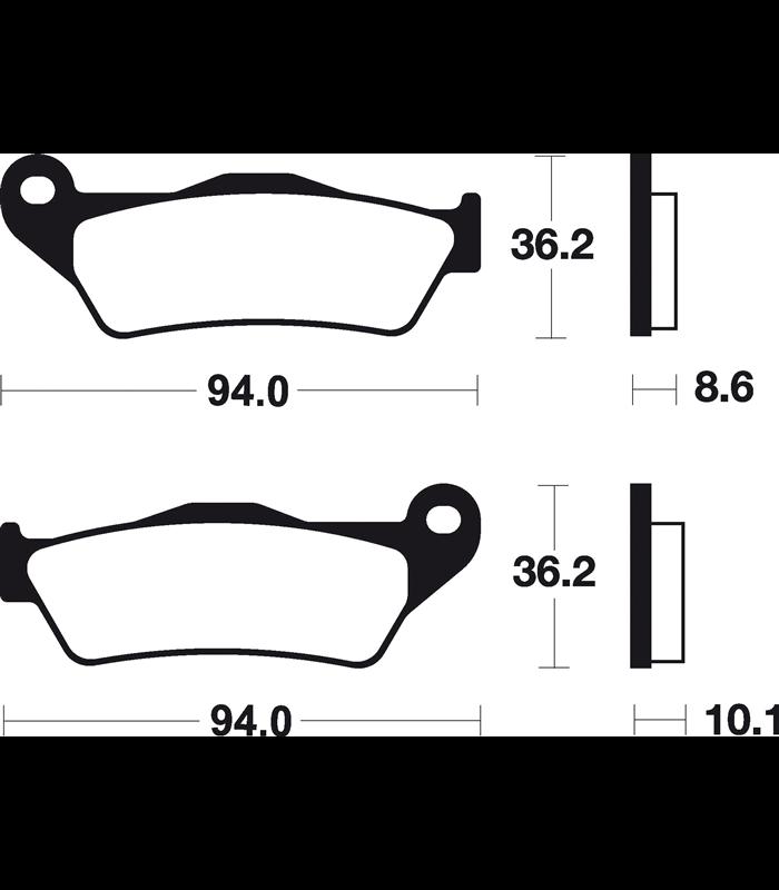 05-13 Pastillas de freno BREMBO BMW R 1200 RT traseras 07BB28SP