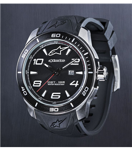 TECH WATCH 3H STEEL SILICON STRAP